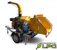 Высокопроизводительный щепорез работающий на бензине и сниженном газе (LPG) на шасси с тормозной системой  LS 160 PGB