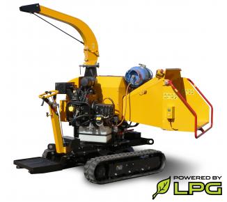 Высокопроизводительный щепорез работающий на бензине и сниженном газе (LPG) на гусеничном ходе LS 160 PG Track