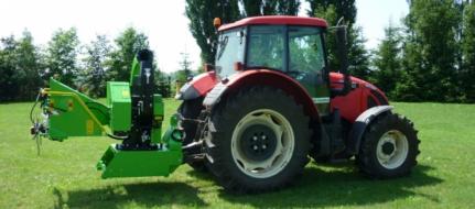 Щепорез к трактору с поворотным и прицепным устройством для прицепа 8 т  LS 200 T (петля 8 т)